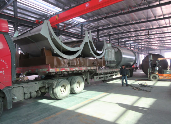 BLJ-6 Pyrolysis Plant Shipped To The Netherlands