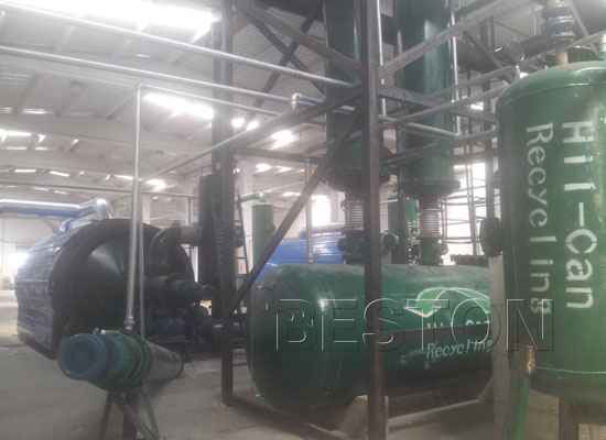 Beston BLJ-6 pyrolysis plant exported to Turkey