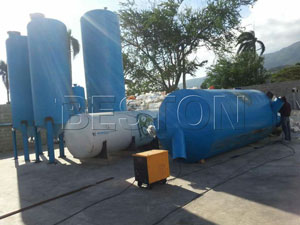 Beston Pyrolysis Plant in Dominica