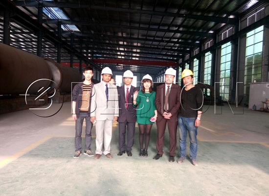 Egypt and Bengal Customers Come to Visit Pyrolysis Plant