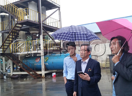 Korea Customers Came to Visit Beston Waste Pyrolysis Plant