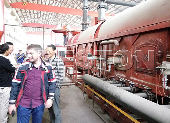 Russian Customers Come to Visit Beston Pyrolysis Plant