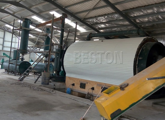 Scrap tyre pyrolysis plant in Jordan-2012