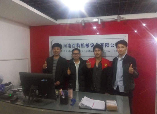 Thailand Customers Came to Visit Beston Machinery Co., Ltd.