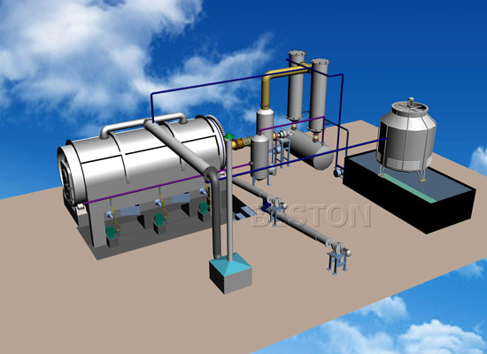 Waste plastic pyrolysis oil technology