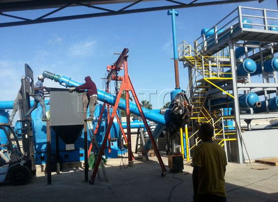waste plastic pyrolysis recycling plant