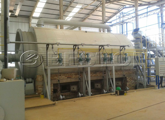 Semi-continuous medical waste pyrolysis plant