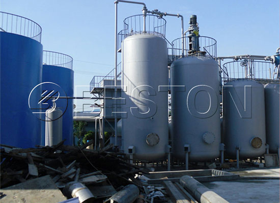 batch waste oil refinery machine