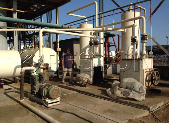 continuous crude oil refinery machine