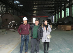 Canadian Customers were Invited to Visit Beston Tyre Pyrolysis Machine