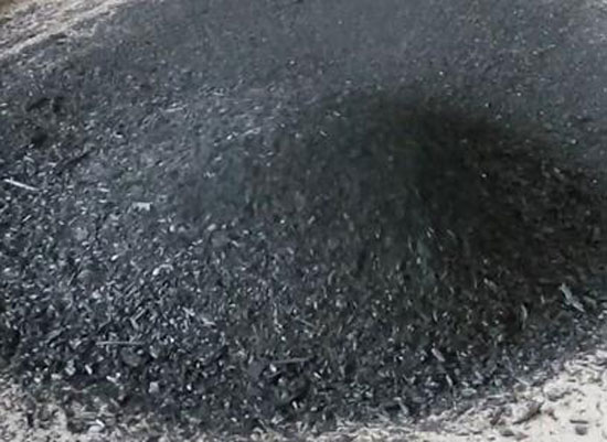 making charcoal from sawdust