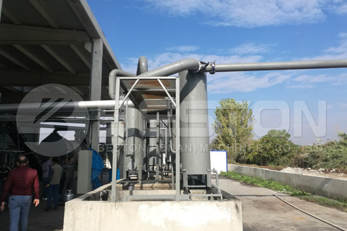 Installation of Rice Husk Carbonizer